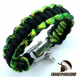 Bracelet paracord Cobra bicolore avec manille réglable