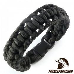 Bracelet paracord Half Hitch uni avec boucle rapide