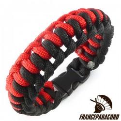 Bracelet paracord Half Hitch bicolore avec boucle rapide