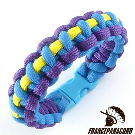 Cobra Line 3 colors Paracord Bracelet with Side Release Buckle
