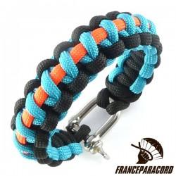 Cobra Line 3 colors Paracord Bracelet with Shackle