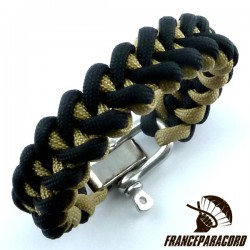 Shark jaw 2 colors Paracord Bracelet with Adjustable Shackle