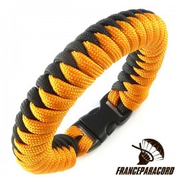 Snake 2 colors Paracord Bracelet with Side Release Buckle