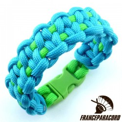 Dotted blaze bar 2 colors Paracord Bracelet with Side Release Buckle