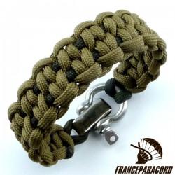 Dotted blaze bar 2 colors Paracord Bracelet with Adjustable Shackle