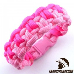 Duality bar 2 colors Paracord Bracelet with Side Release Buckle