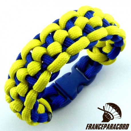 Morse code bar 2 colors Paracord Bracelet with Side Release Buckle