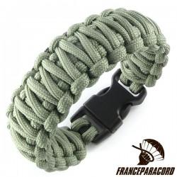 Bracelet paracord King Cobra uni avec boucle rapide
