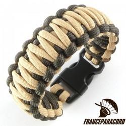 Bracelet paracord King Cobra bicolore avec boucle rapide