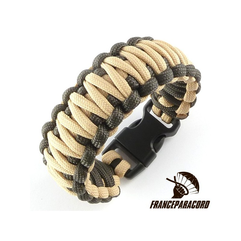 King Cobra 2 Colors Paracord Bracelet With Side Release Buckle