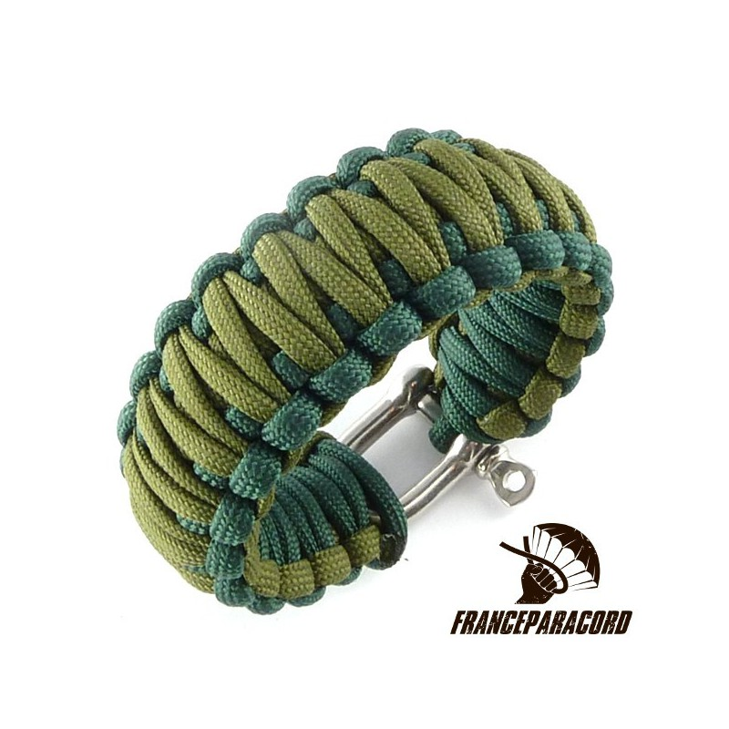 king,cobra,2,colors,paracord,bracelet,with,shackle
