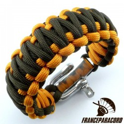 King Cobra 2 colors Paracord Bracelet with Adjustable Shackle
