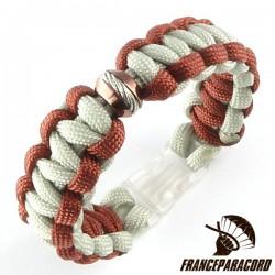 Cobra Bracelet With Spartan Bead & Side Release Buckle