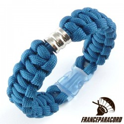 Cobra Bracelet with One 10*10mm beads & Side Release Buckle