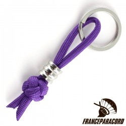 Diamond Knot With 10*10mm Bead Keyring