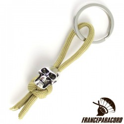 Diamond Knot With Charm Skull Bead Keyring
