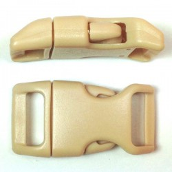 Curved Side Release Buckle 23mm Beige