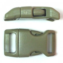 Curved Side Release Buckle 23mm Foliage Green