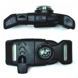 Whistle Compass Firestarter Side Release Buckle