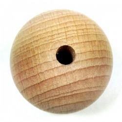 Boule en hêtre avec trou Ø 5mm