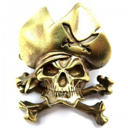 Pirate Skull Bronze Massif