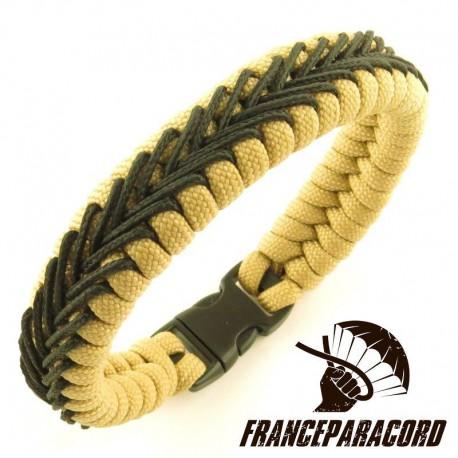 Bracelet paracord Switchback avec Sur-tressage