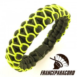 Bracelet paracord Cobra avec Sur-tressage