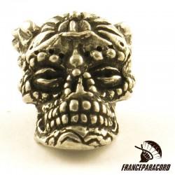 Aquilo Sugar Skull Bead Pewter