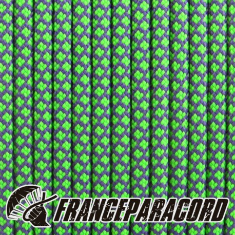 Paracord 550 - Purple With Neon Green Diamonds