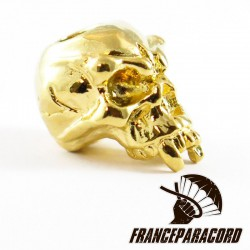 Fang Skull Bead Gold