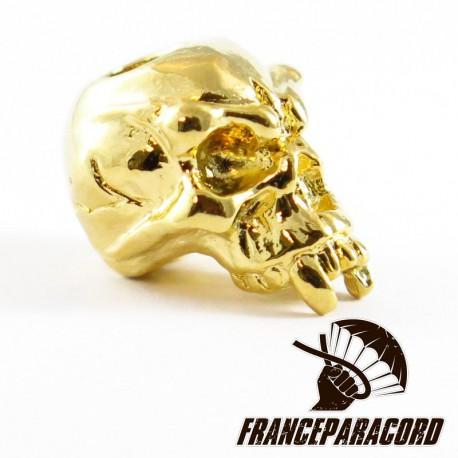 Fang Skull Bead Gold