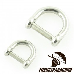 Mini D shackle with slotted screw