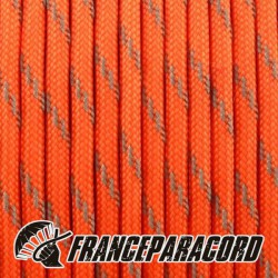 Paracord 550 - Orange Neon réflective