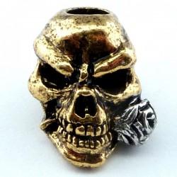 Tête de mort Rose 18k Gold & Rhodium