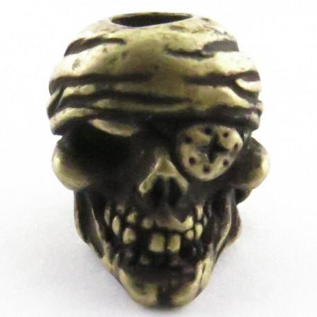 Tête de mort Pirate Roman Brass